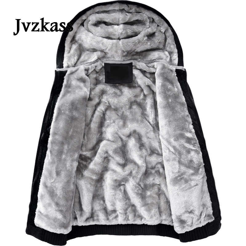 Jvzkass yeni kış pamuk giyim ceket kadın artı kadife çift gevşek rahat sonbahar ve kış nötr kapşonlu kalınlaşma Z277