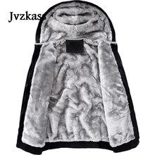 Jvzkass جديد الشتاء القطن الملابس سترة المرأة زائد المخملية زوجين فضفاضة عادية الخريف والشتاء محايد مقنعين سماكة Z277