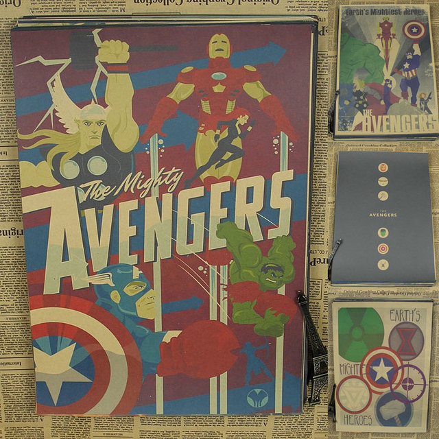 Buy superheroes the avengers comics movie Vintage childrens room decor