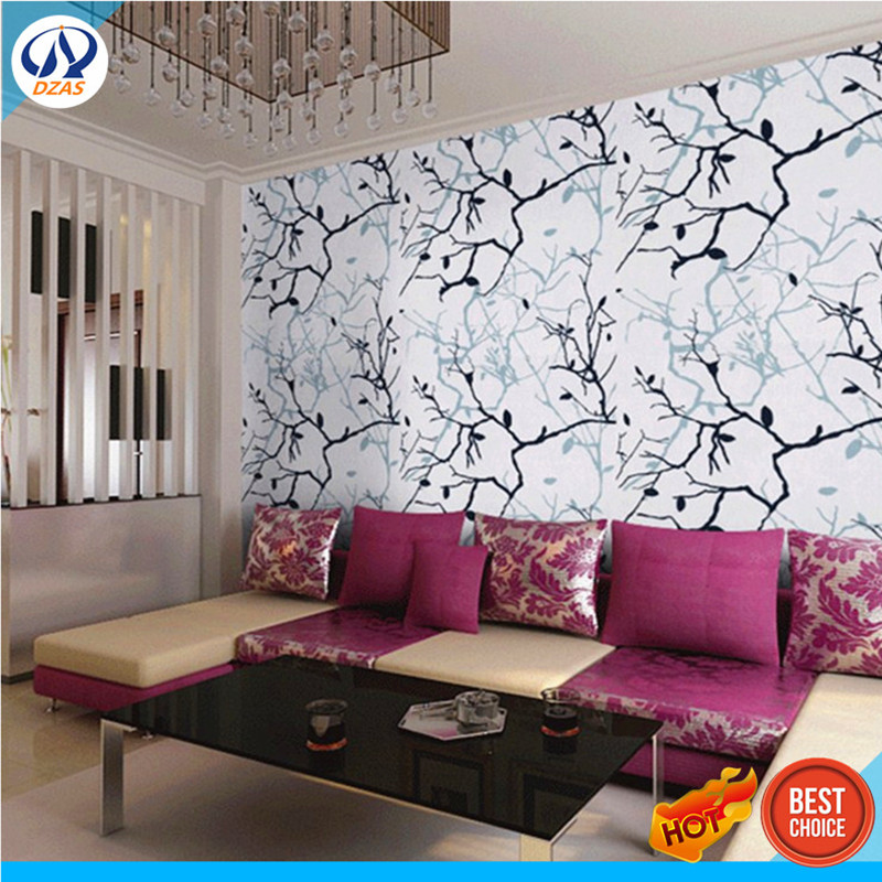 Messy Living Room: Messy Branches Waterproof Wallpaper Living Room Restaurant