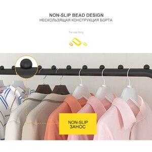 Image 4 - Basit ayakta giysi rafı kurutma askısı kat elbise askısı raf depolama raf yatak odası mobilyası