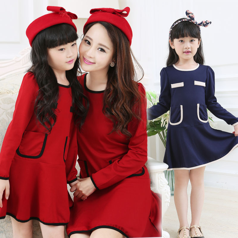 Korean fashion dress pocket and children's clothing