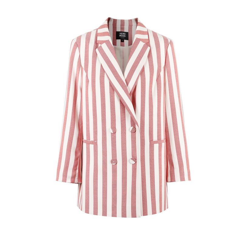 Vero Moda 2019 Spring Summer New Striped Pattern Sleeves Blazer |318208525