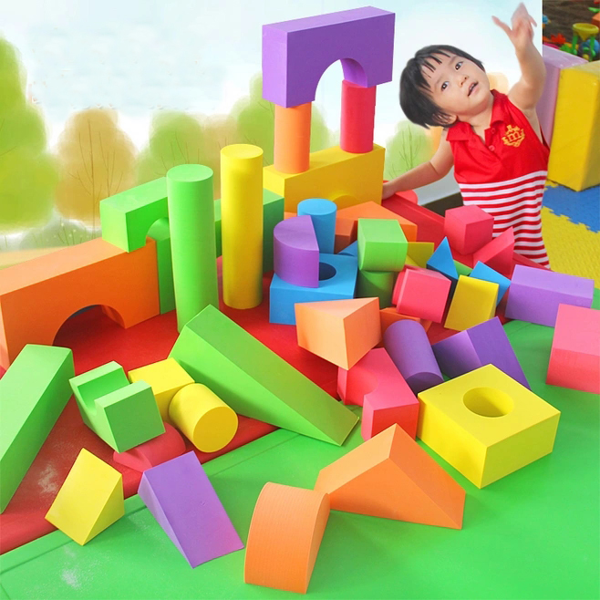 ZBOND 48PCS/set 7cm Thickness Colorful Big Size EVA Foam Building Block Brick Set Kid Child Soft Toy Christmas Gift np f960 f970 6600mah battery for np f930 f950 f330 f550 f570 f750 f770 sony camera