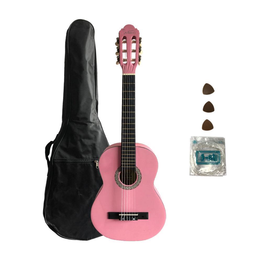 Ukulélé 30 pouces Ukelele hawaïen épicéa Top Eucalyptus mat guitare classique rose + sac + pagaie + ficelle
