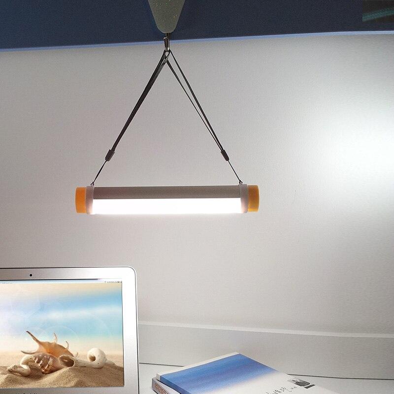 Camping en plein air lumière 4 niveaux Dimmable USB Recharge 18650 li-ion batterie d'urgence Camping lanterne tente lampe de poche lampe de Camping
