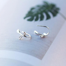 Ruifan Korean Leaves/Leaf Small Earrings for Women Genuine 925 Silver Jewelry Womens Stud YEA091