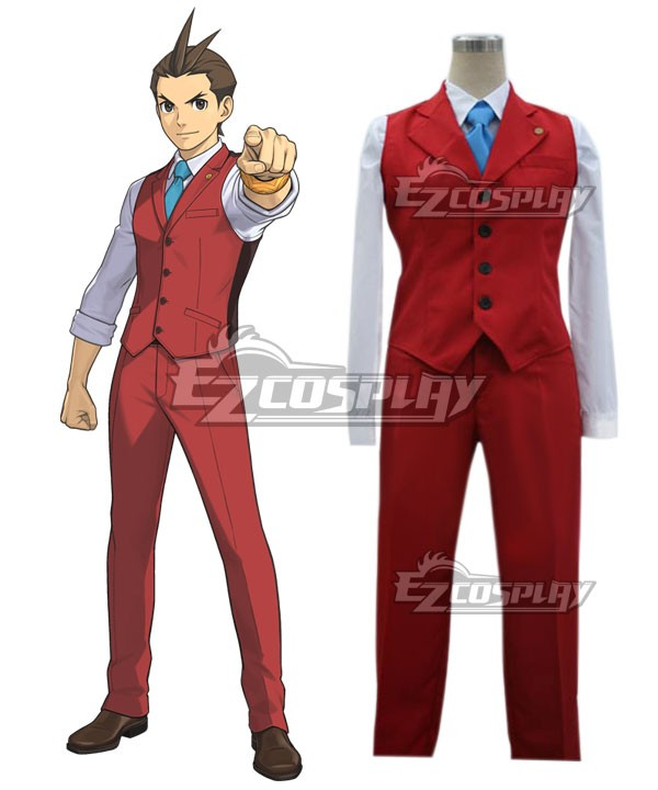 Ace Attorney Gyakuten Saiban Apollo Justice Cosplay Costume E001