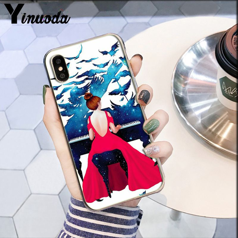 Image 3 - Yinuoda piano guitar music Newest Super Cute  DIY Phone Case cover Shell for Apple iPhone 8 7 6 6S Plus X XS MAX 5 5S SE XR-in Half-wrapped Cases from Cellphones & Telecommunications