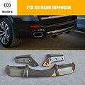 F15 X5 диффузор заднего бампера из углеродного волокна с разделителем фартук для BMW F15 X5 M-tech M-sport Bumper Only 2014 UP