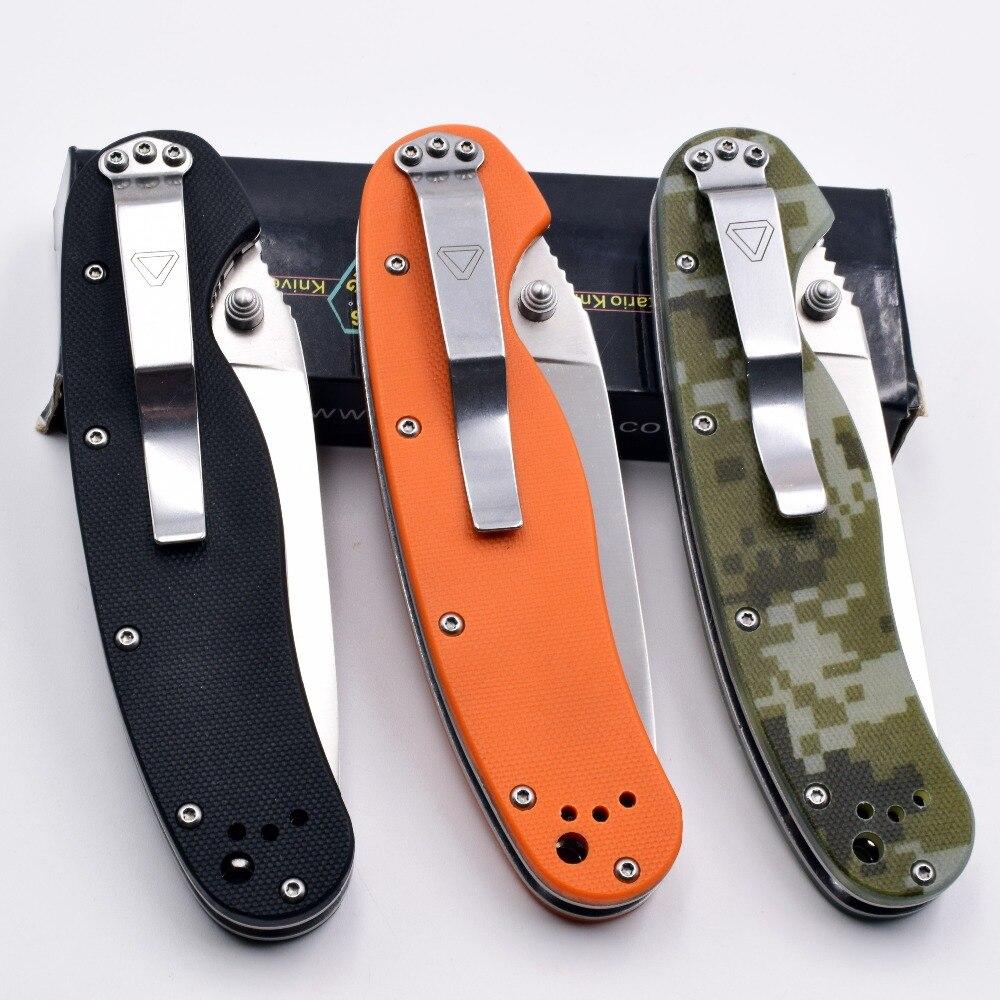 Купить с кэшбэком RAT 1 Folding Knife AUS-8 Blade G10 Handle Tactical Camping Pocket Knife Outdoor Survival Hunting EDC Combat Portable Tools OEM