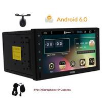 Rear Camera Included Android 6 0 Double 2Din Car Video Player Bluetooth GPS Navigation Digital Screen