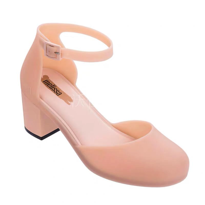 Melissa Shoes Women Sandals Casual Rome Gladiator Sandals Summer Med Heels Cross Tied Footwear Lady Sandals