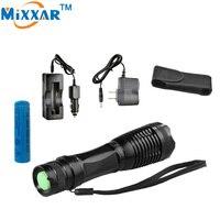 NZK20 LED torcia della torcia elettrica XML-T6 4000 LM lampada Messa A Fuoco Zoomable LED Torch + DC/Caricabatteria Da Auto + 1*18650 5000 mAh battery + fondina
