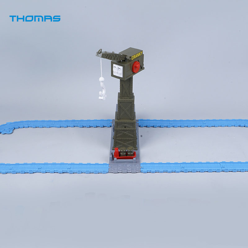 CRANKY Crane 16Pcs Plastic Tracks for Diecast Metal Train Toy Thomas and Friends Megnetic Trains Toys For Children Kids Gifts