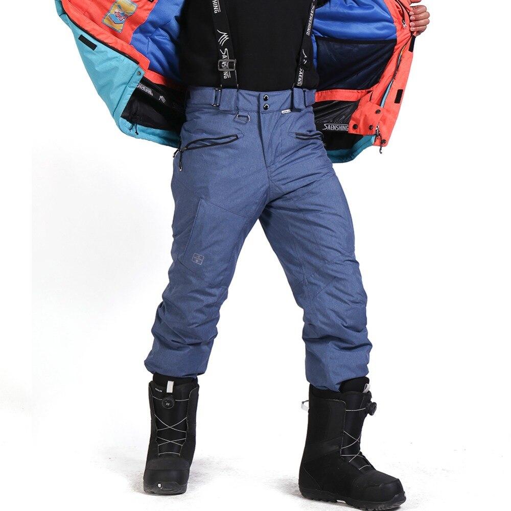 SAENSHING-30 degrés hommes Snowboard pantalon hommes ski pantalon imperméable 10 K respirant hiver neige pantalon hommes marque Ski ski pantalon - 2