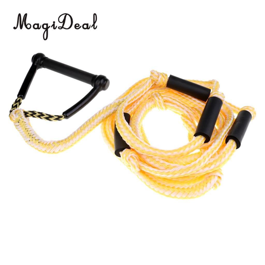 MagiDeal Universal 24ft Water Ski Rope Tow Harness Rope with Handle for  Wakeboard Knee Board Surfing Acce-in Surfing from Sports & Entertainment on  ...