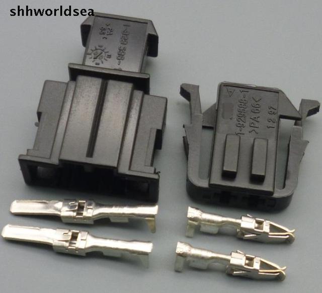 Shhworldsea 5/30/100 комплекты 3,5 мм 2pin мужской женский способ автомобильный разъем 191 972 712 191 972 702