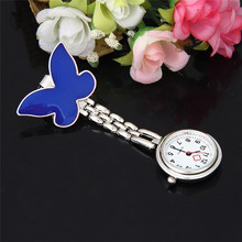 цены на #3042  Nurse Clip-on Fob Brooch Pendant Hanging Butterfly Watch Pocket Watch New в интернет-магазинах
