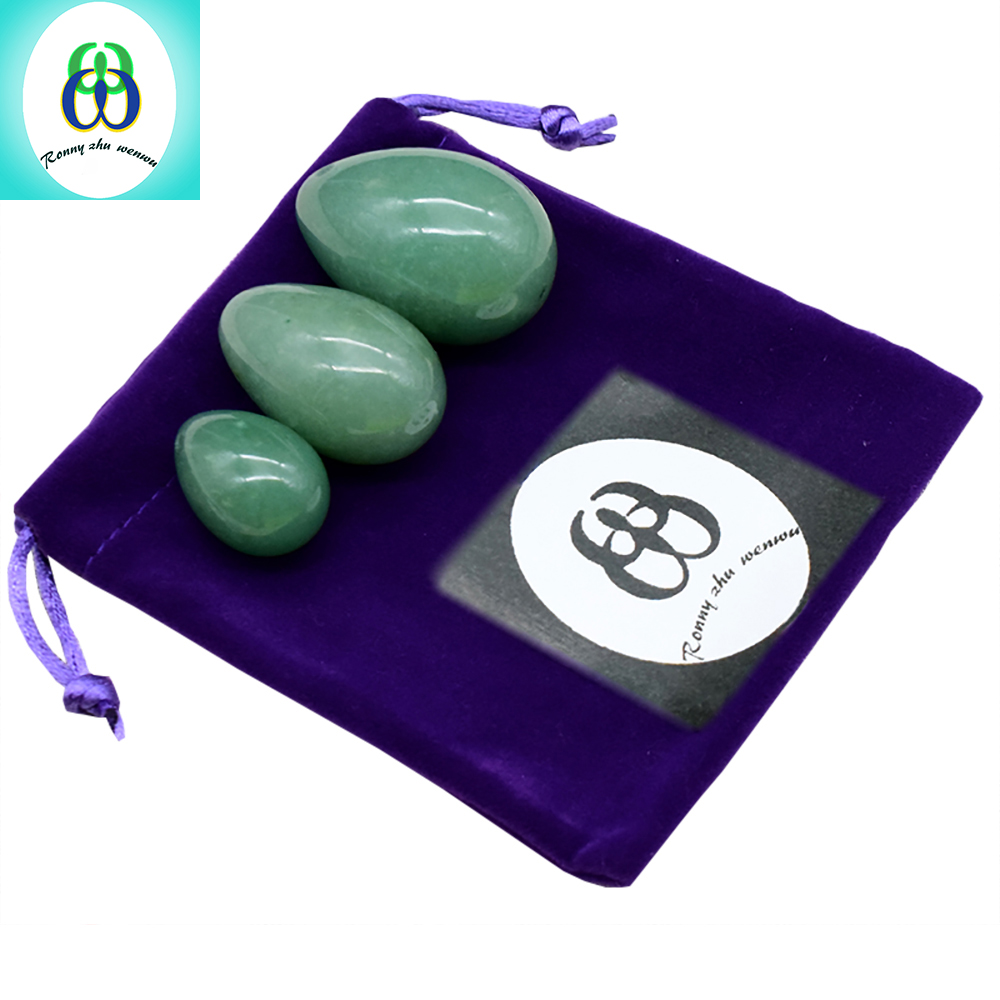 Feminine Hygiene Ben Wa Ball Yoni Eggs Green Aventurine Jade Egg for Women Kegel Exercise Pelvic Floor Muscles Vaginal Exercise himabm 1 set natural purple amethyst drilled egg for kegel exercise pelvic floor muscles vaginal exercise yoni egg ben wa ball