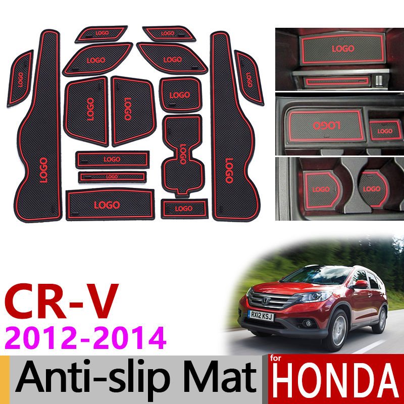 Anti-Slip Mat Ranhura Portão Borracha CR-V Coaster para Honda CRV 2012 2013 2014 4th Gen facelift CR V acessórios Adesivos de Carro 2.0 2.4