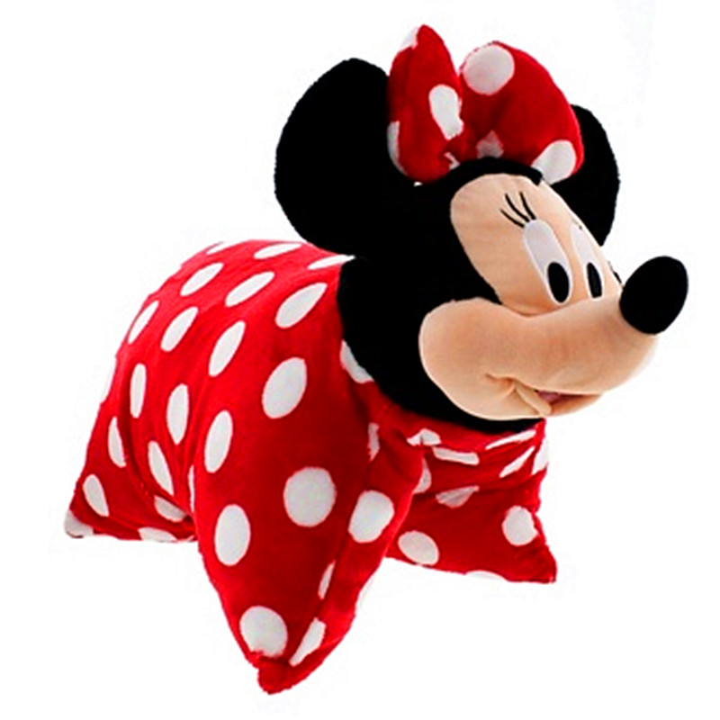Cute Red Minnie Mouse Plush Pillow Multipurpose Folded Cushions Stuffed Animals Soft Toys for Children Girls