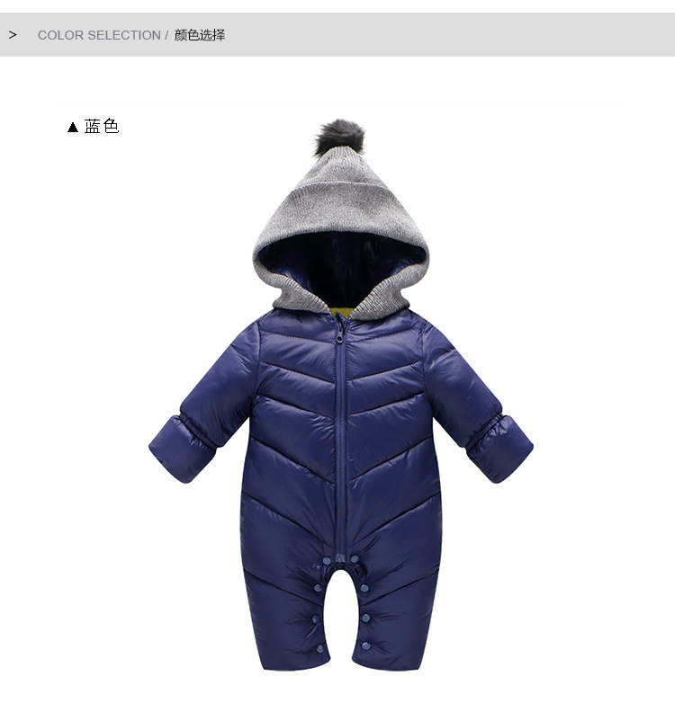 Winter children newborn baby thick long sleeve romper leotard autumn baby infant kids jumpsuit clothes baby climbing clothes unisex winter baby clothes long sleeve hooded baby romper one piece covered button infant baby jumpsuit newborn romper for baby