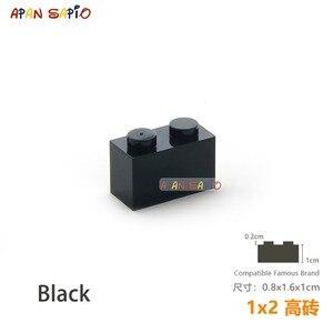 Image 5 - 25 sztuk/partia DIY bloki klocki grube 1X2 edukacyjne montaż budowlane zabawki dla dzieci rozmiar kompatybilny z lego