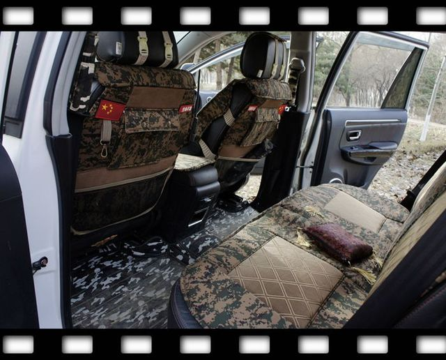 New Camouflage Car Seat Covers Four Seasons Cushion Pad Donkey Off Road For TOYOTA PRADO