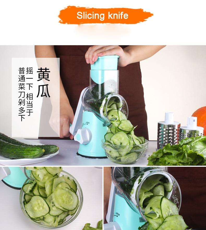 HTB1Ja2Vd9zqK1RjSZFHq6z3CpXaS Food Processor Blender Vegetable Cutter Round Mandoline Slicer Potato Carrot Grater Slicer Chopper Blades Kitchen Tool