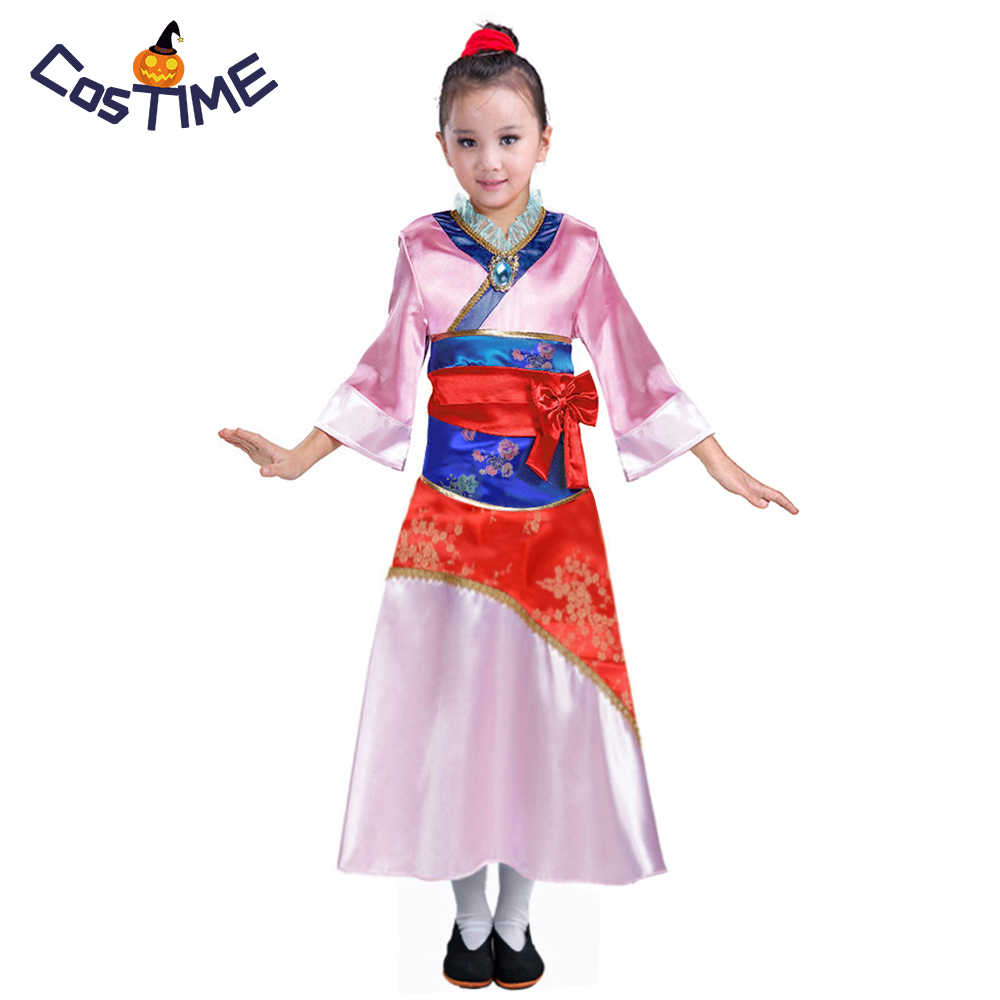 141482ecd Child Mulan Costume Asian Princess Dress Up Outfit Chinese Tang Dynasty  Traditional Fancy Dress Halloween Costumes