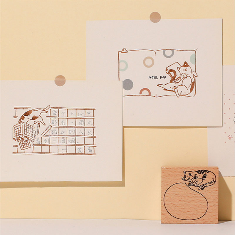 Vintage DIY Roller Stamp Trolley Date Scrapbooking Rolling Words Stamps Tool
