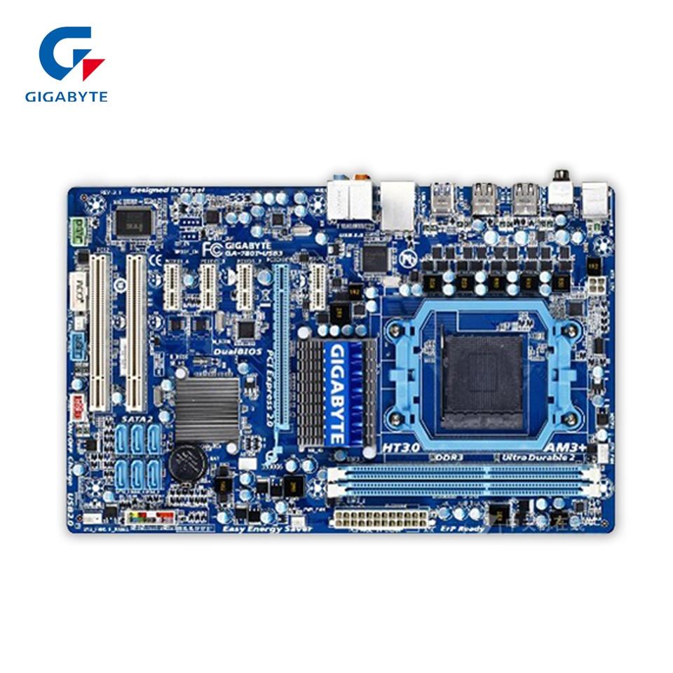 Gigabyte GA-780T-USB3 Original Used Desktop Motherboard 760G Socket AM3+ DDR3 SATA2 USB2.0 ATX  gigabyte ga 870a usb3 original used desktop motherboard amd 870 socket am3 ddr3 sata3 usb3 0 atx