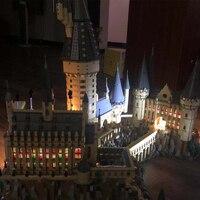 16060 Harry Movie Series The Legoinglys 71043 Hogwarts Power LED Castle Set Building Blocks Bricks Model Toys(Only LED Lights)