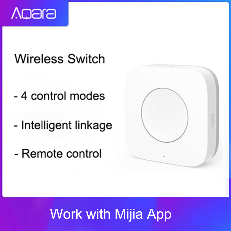Aqara Smart Wireless Switch Key Intelligent Application Remote Control ZigBee Wireless Biult In Gyro For Mi Home App