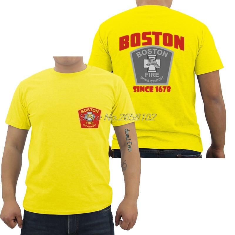 New Fire Department Boston City Massachusetts FireFighter Rescue T-Shirt