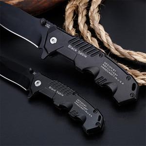 Image 3 - מתקפל סכין טקטי הישרדות סכיני ציד קמפינג להב edc רב גבוהה קשיות צבאי הישרדות סכין כיס