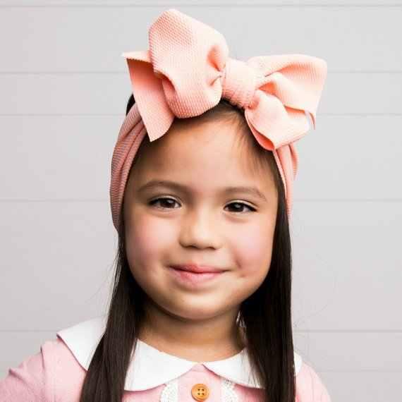 調節可能なビッグ弓 headwrap ベビーヘッドバンドトップノットヘアアクセサリーヘッドバンド上弓のヘアターバン新生児ヘッドバンドガール大髪弓