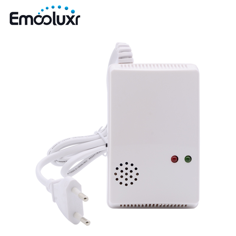433MHz Wireless Gas Detector Sensitive Combustible CO Gas Detector Fire Alarm Sensor for Wireless GSM PSTN Home Security