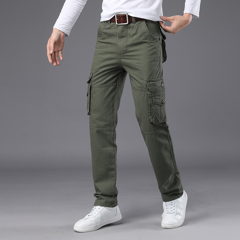 NIGRITY New 2018 mens Cargo Pants For Men Military Straight Trousers Casual Cotton joggers Long Pants Plus Size