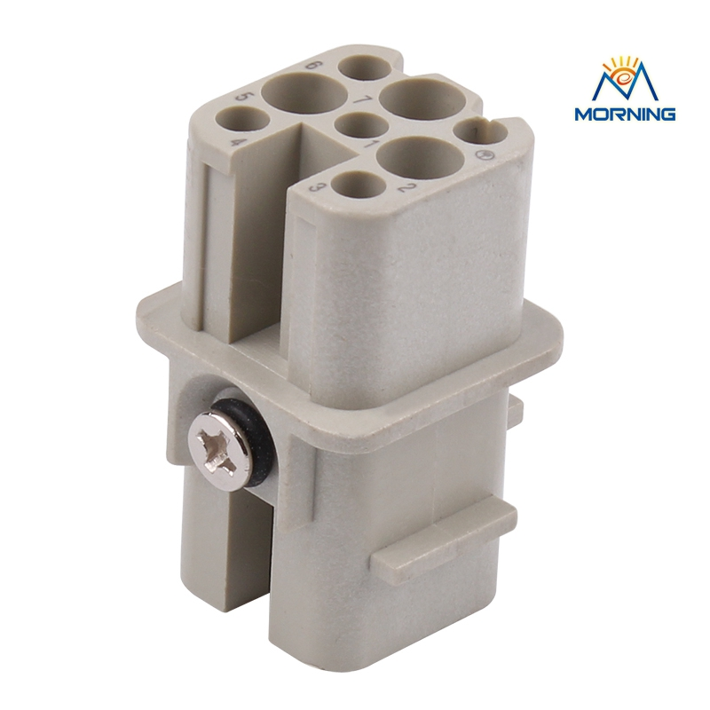 HD-007  Surface Mounting Silver Plated Surface Crimp Terminal Current 10A  Male Female 250V 7 Pins Connector usb3 0 round type panel mounting usb connecter silver surface
