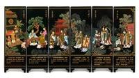 Мини Экран складной Экраны 6 присоединился к панели декоративные роспись по дереву бебу Конфуций