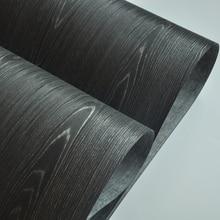 Czarny drewno dębowe fornir