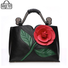 Big Rose Flower Bag Ladies Women Handbag Luxury Women Bag Famous Brands Vintage Women Bags Female Tote Bolsas Feminina C0504/l