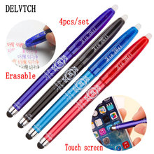 DELVTCH 4pcs/set Erasable Pen Ink 0.5mm Gel 4Color Avaliable Multifunction For Student Writing Tools Office Stationery