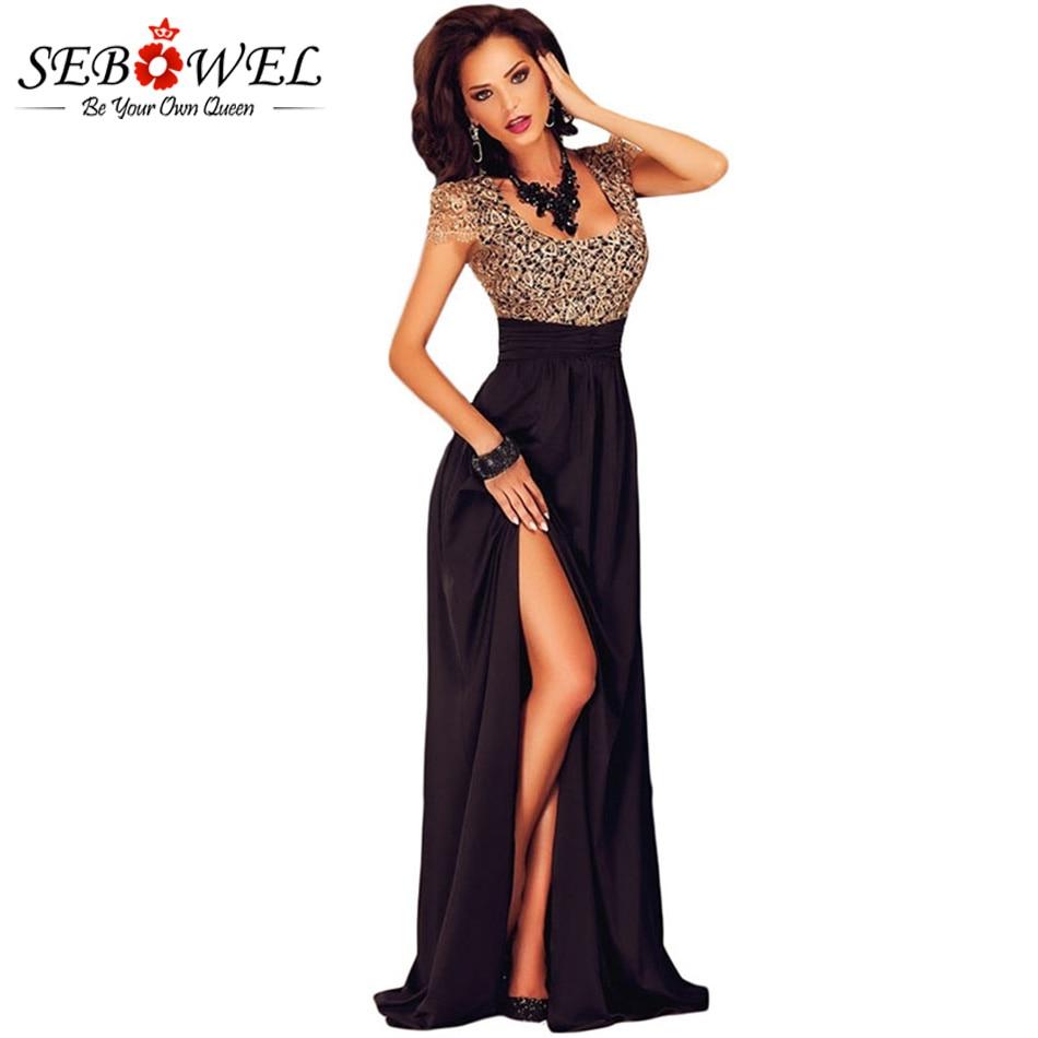 NºSebowel Backless Elegant Long Party Dresses Floor Length Gowns ...
