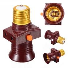 110-250 В E27 винт держатель лампы конвертировать в с выключателем лампы гнездо адаптер для светодиодной лампы Mayitr освещение