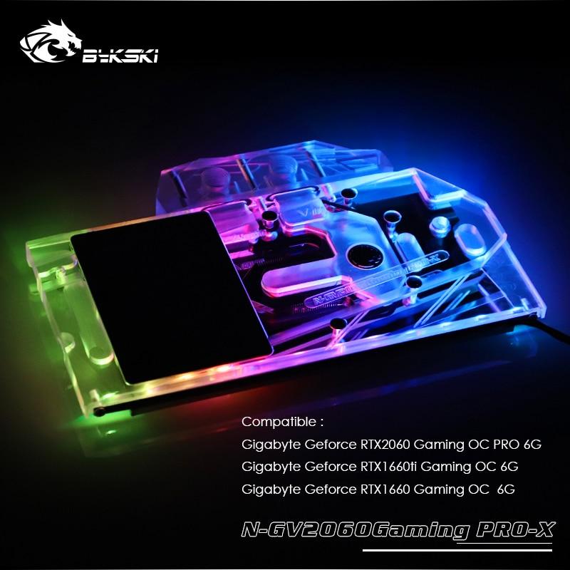 Bykski GPU Cooler fit Gigabyte Geforce RTX2060 /1660ti/1660 Gaming OC PRO 6G ,VGA Water Cooling Block N-GV2060Gaming PRO-XBykski GPU Cooler fit Gigabyte Geforce RTX2060 /1660ti/1660 Gaming OC PRO 6G ,VGA Water Cooling Block N-GV2060Gaming PRO-X