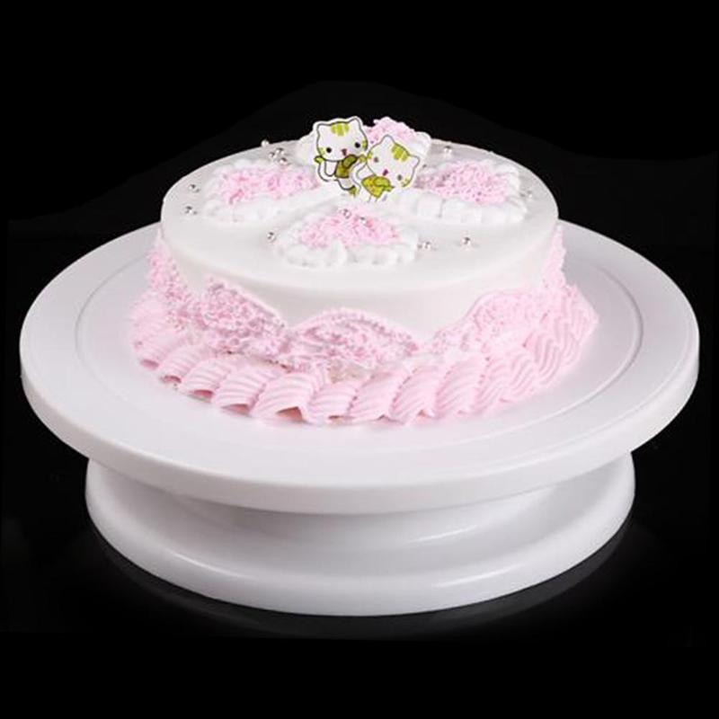 2018 New Kitchen Cake Decorating Rotating Stand DIY Cake Rack Baking Tool 4 Colors Turntable Cake Stand Plastic Baking Tool