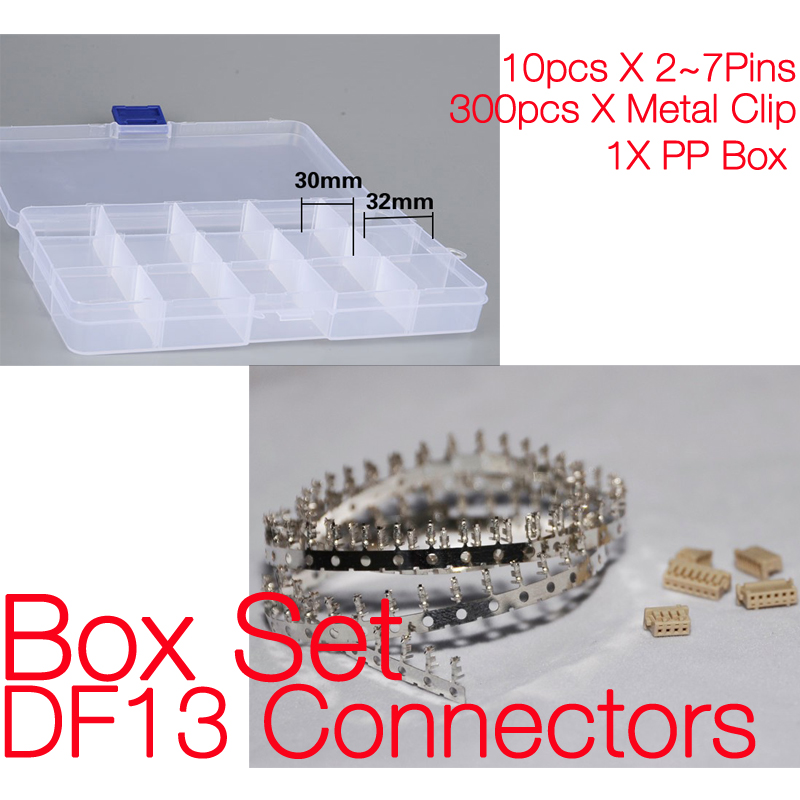 Box set of DF13 Housing, High Quality connector for RC model APM Flight controller eglo connector box 91207
